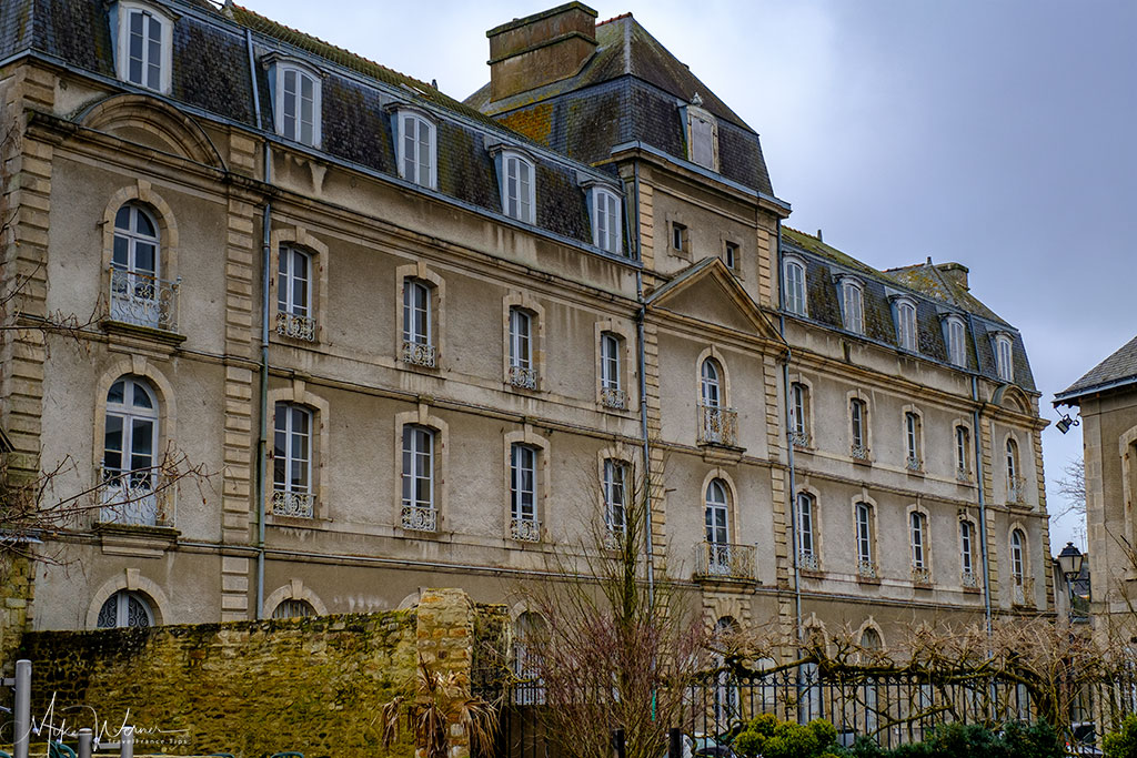 Back of the Chateau de l'Hermine in Vannes, Brittany