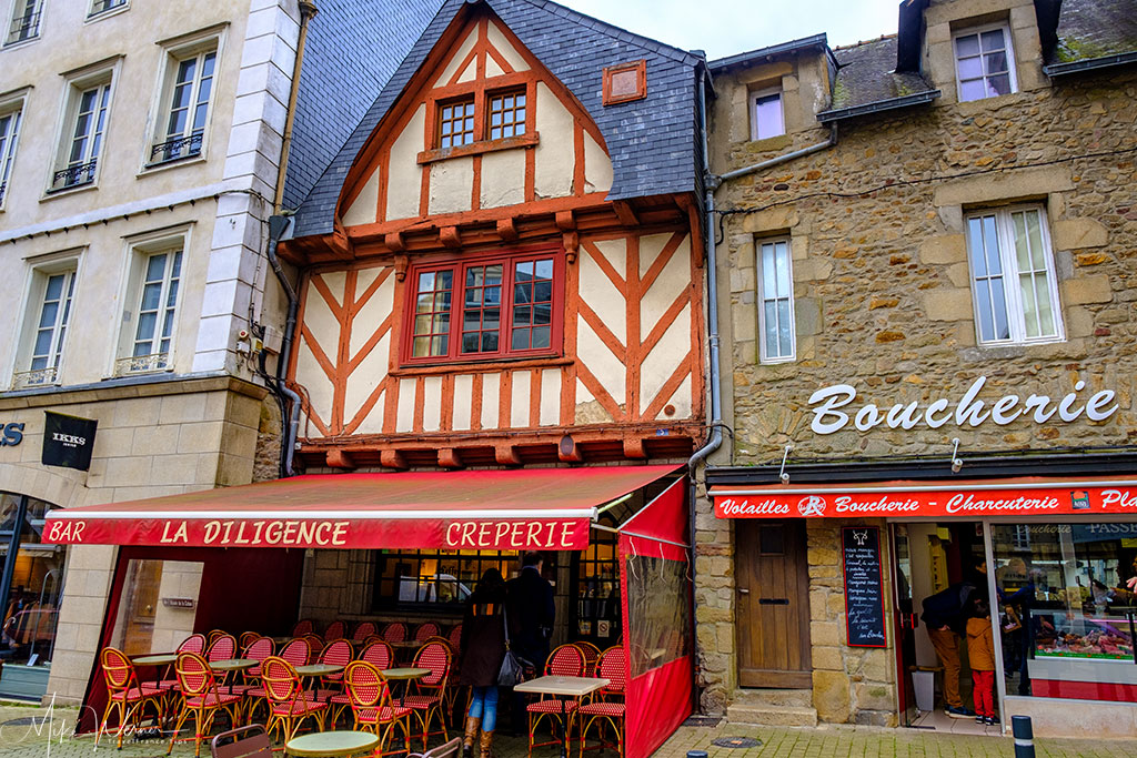 Boucher and crepes bar in Vannes, Brittany