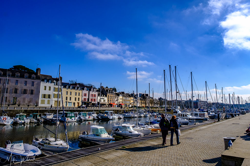 Very long pleasure boats marina in Vannes, Brittany