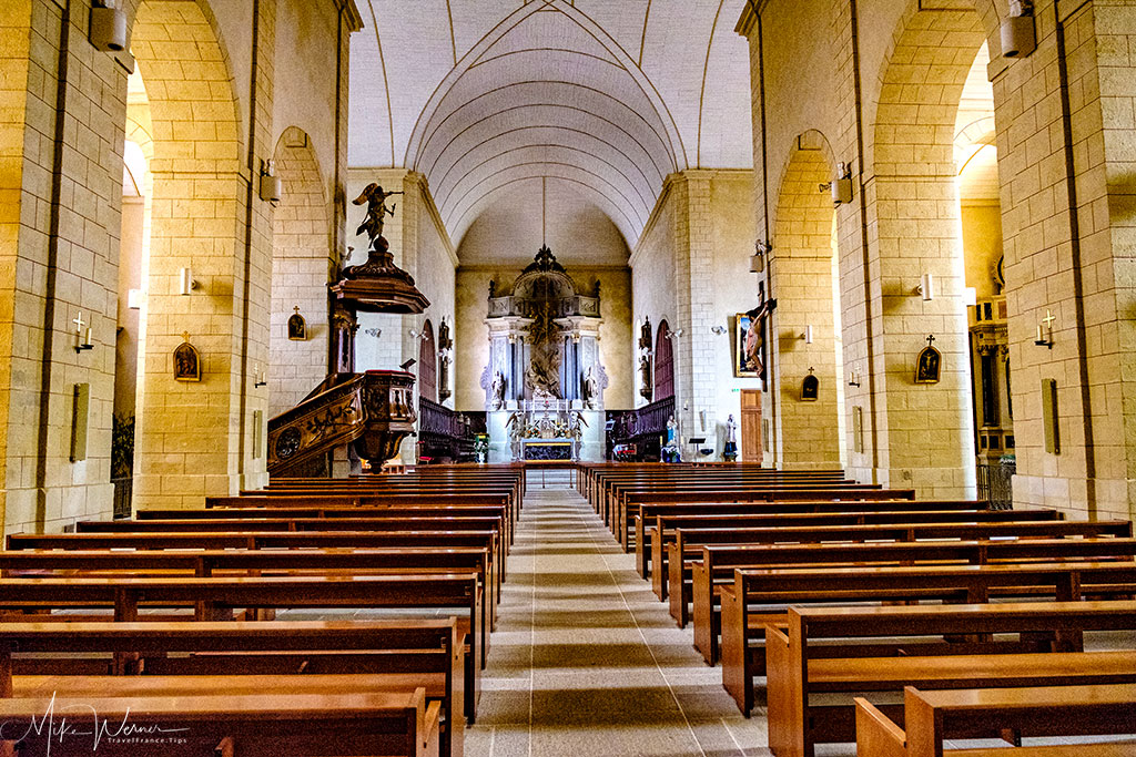The nave of the Saint-Patern church in Vannes, Brittany