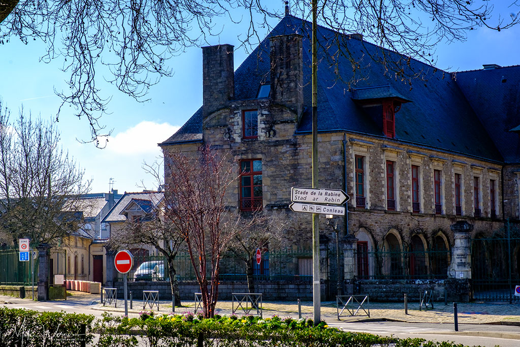 The main building of the former Carmel Monastery in Vannes, Brittany