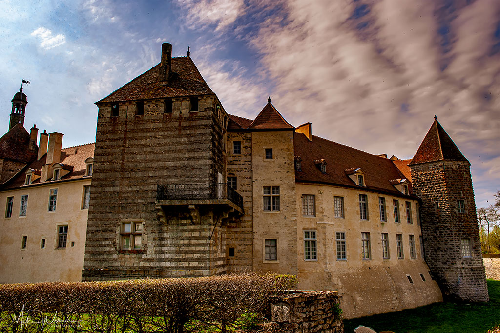 The towers of the Epoisse castle in Burgundy