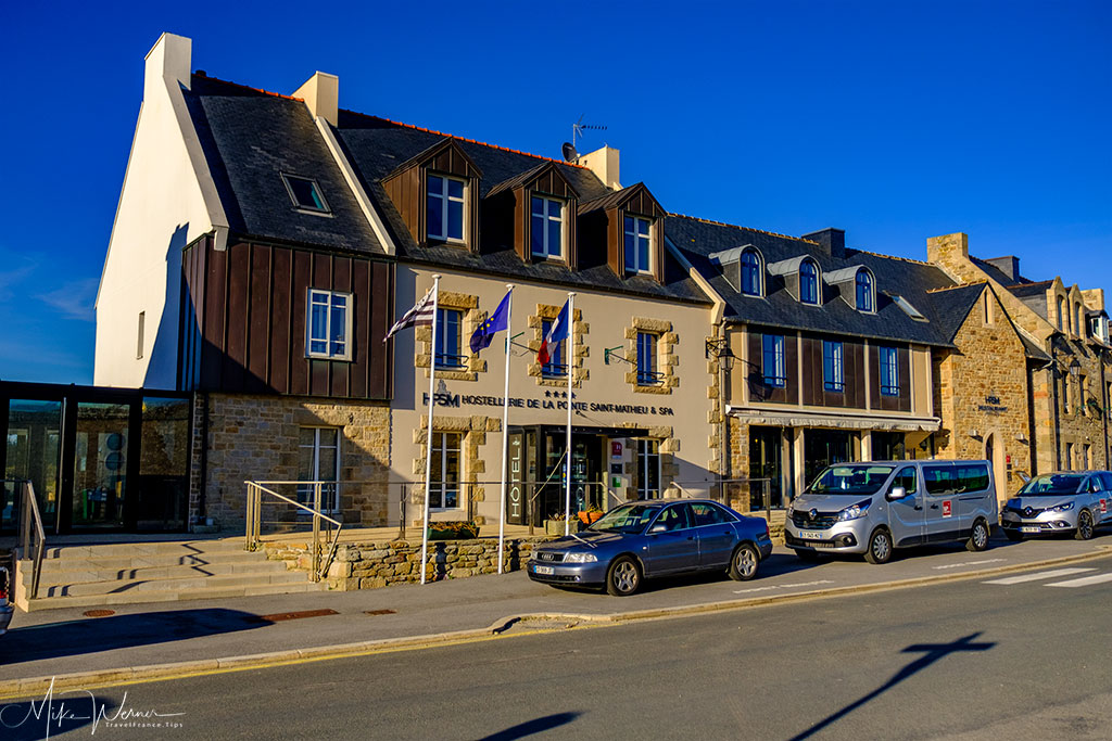 Hotel/spa/restaurant/gallery at Pointe Saint-Mathieu in Brittany