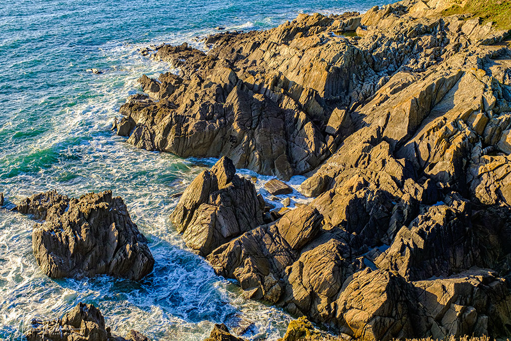 Ragged cliffs at the Pointe Saint-Mathieu in Brittany