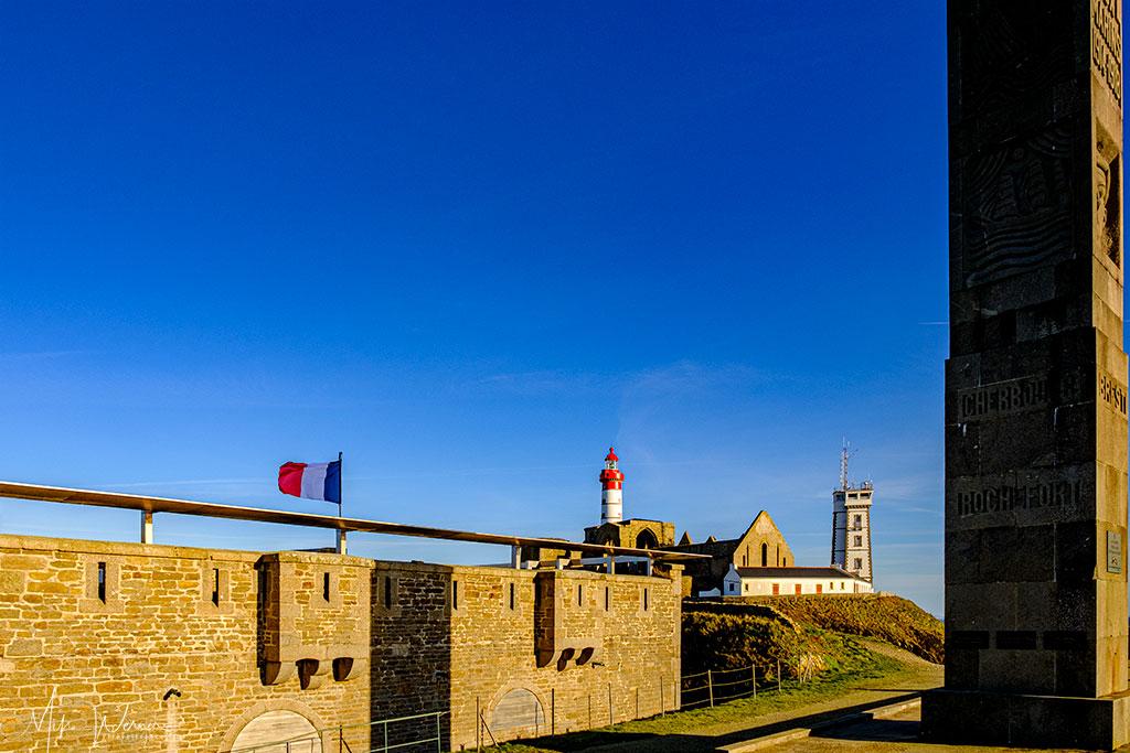 Sailors memorial at Pointe Saint-Mathieu