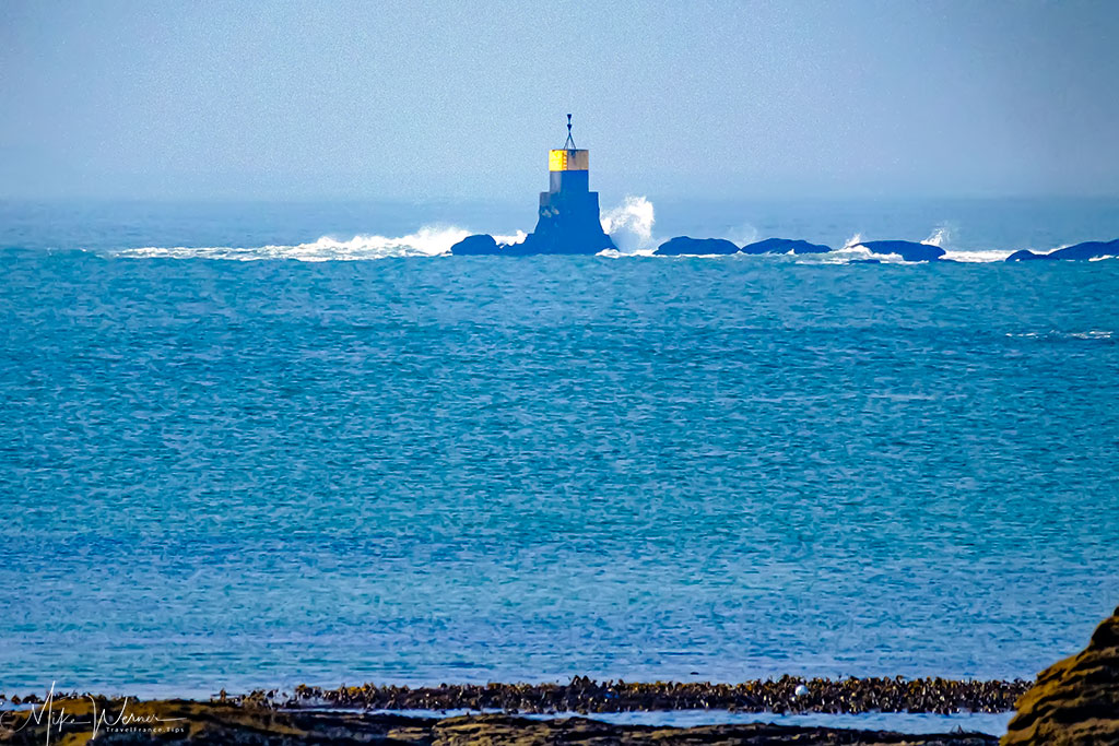 Waves hitting a buoy at the South of Quiberon, Brittany
