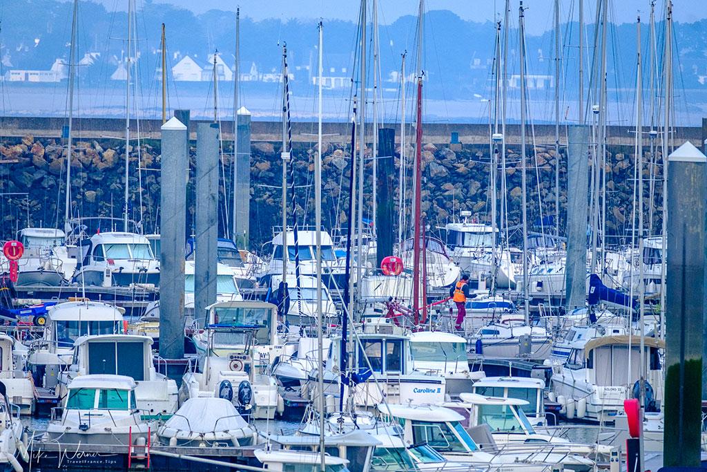 Port Haliguen at Quiberon and its pleasure boats marina
