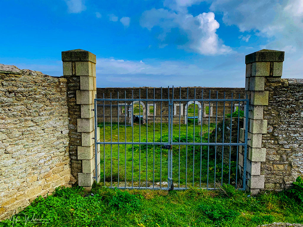 Gate of Fort Neuf in Quiberon, Brittany