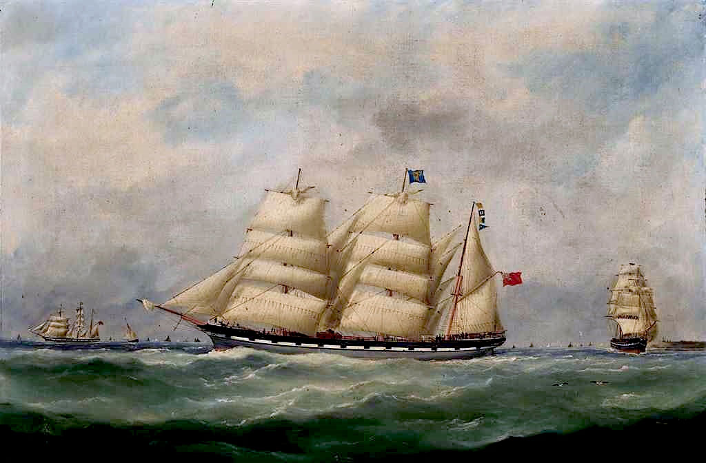 1885 Edouard Adam - The John Paterson in Three Positions off Le Havre