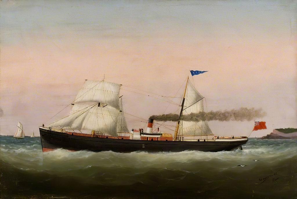 1887 Edouard Adam - Sailing Boats Le Havre