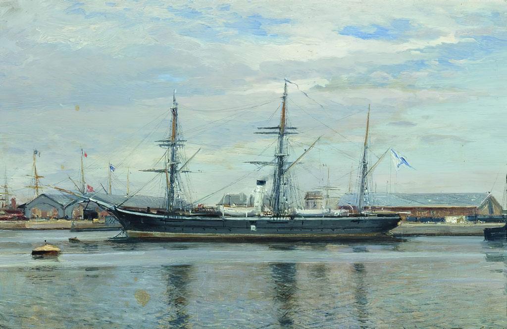 1852 - Alexey Bogoliubov - The-Razboinik-Clipper-in-Le-Havre