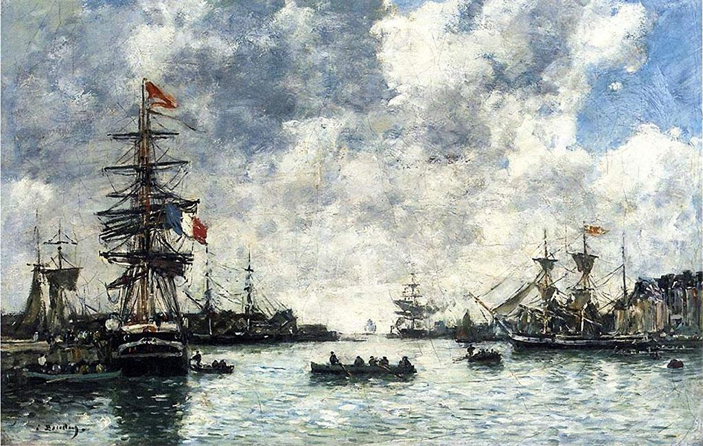 1872 Eugene Boudin - The Outer Harbor