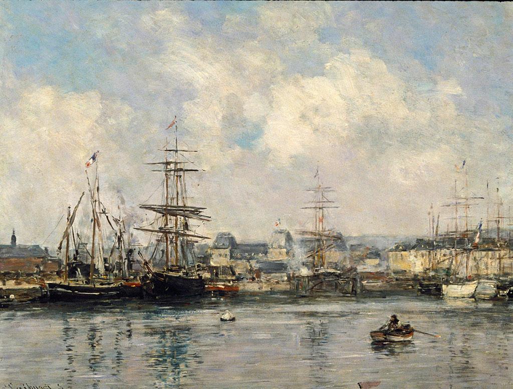 1874 Eugene Boudin - Casimir-Delavigne-Basin-at-Le-Havre