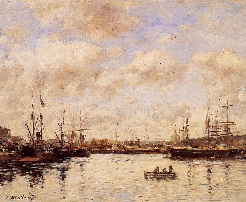 1890 Eugene Boudin - Basin