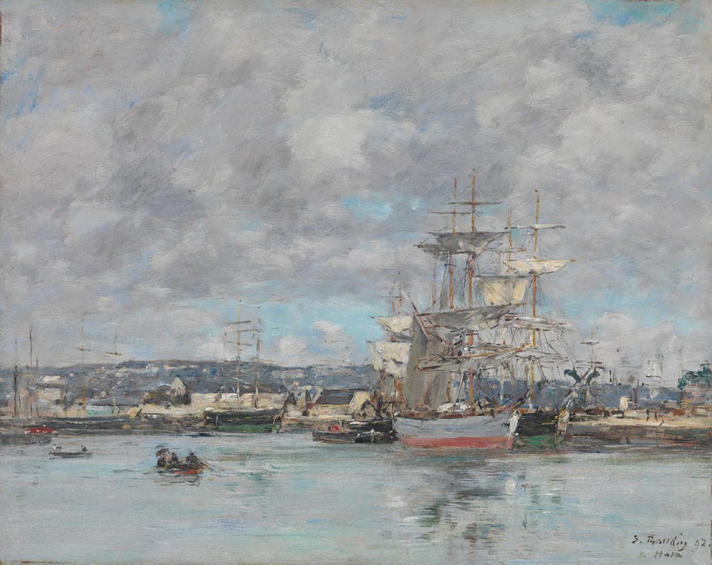 1892 Eugene Boudin - The Port of Le Havre