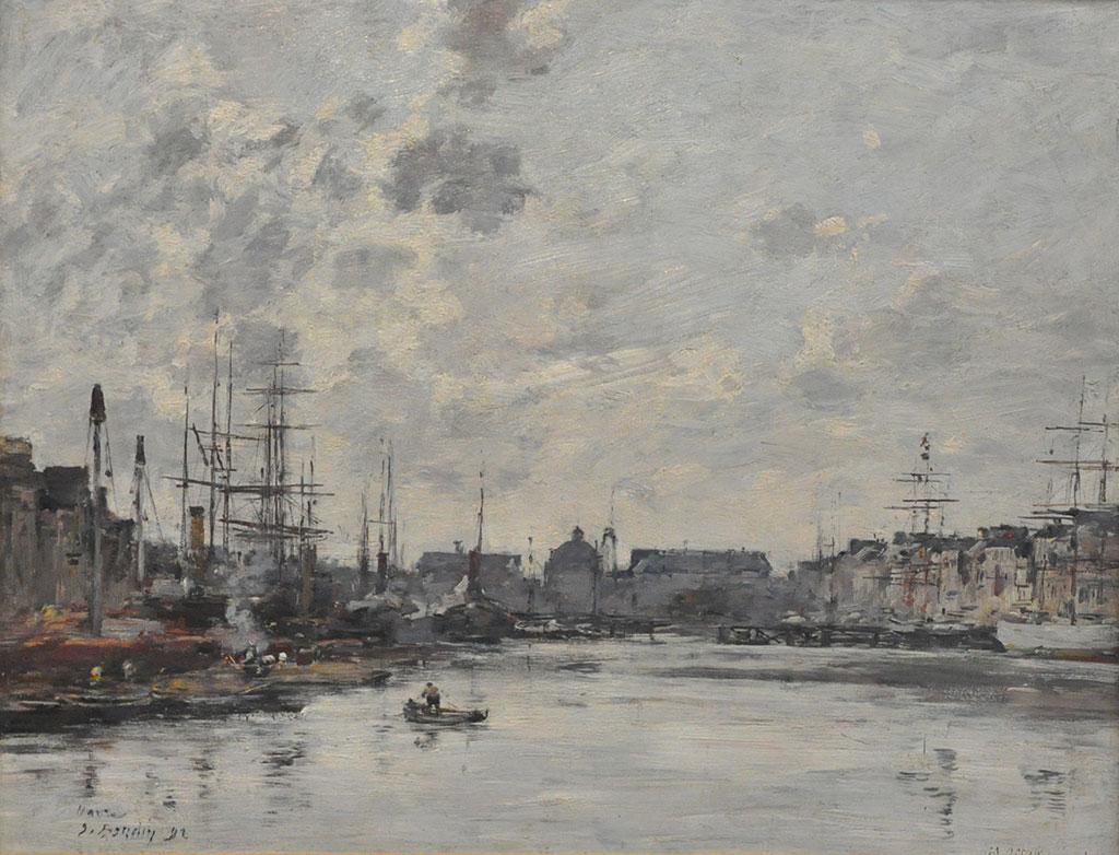1892 Eugene Boudin - The Trade Basin