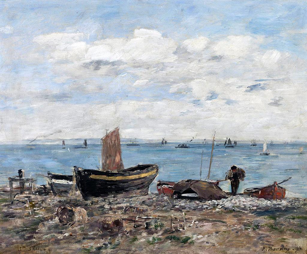 1894 - Eugene-Louis Boudin - Shore at Sainte-Adresse. Low tide
