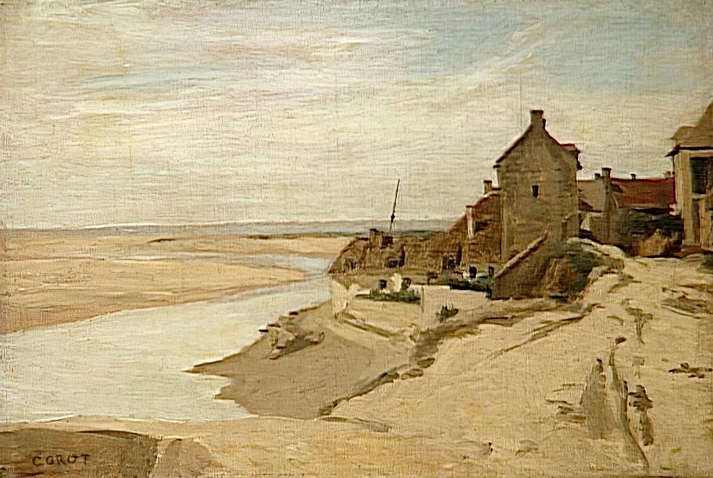 1830 Jean-Baptiste Camille Corot - Fishermen's House