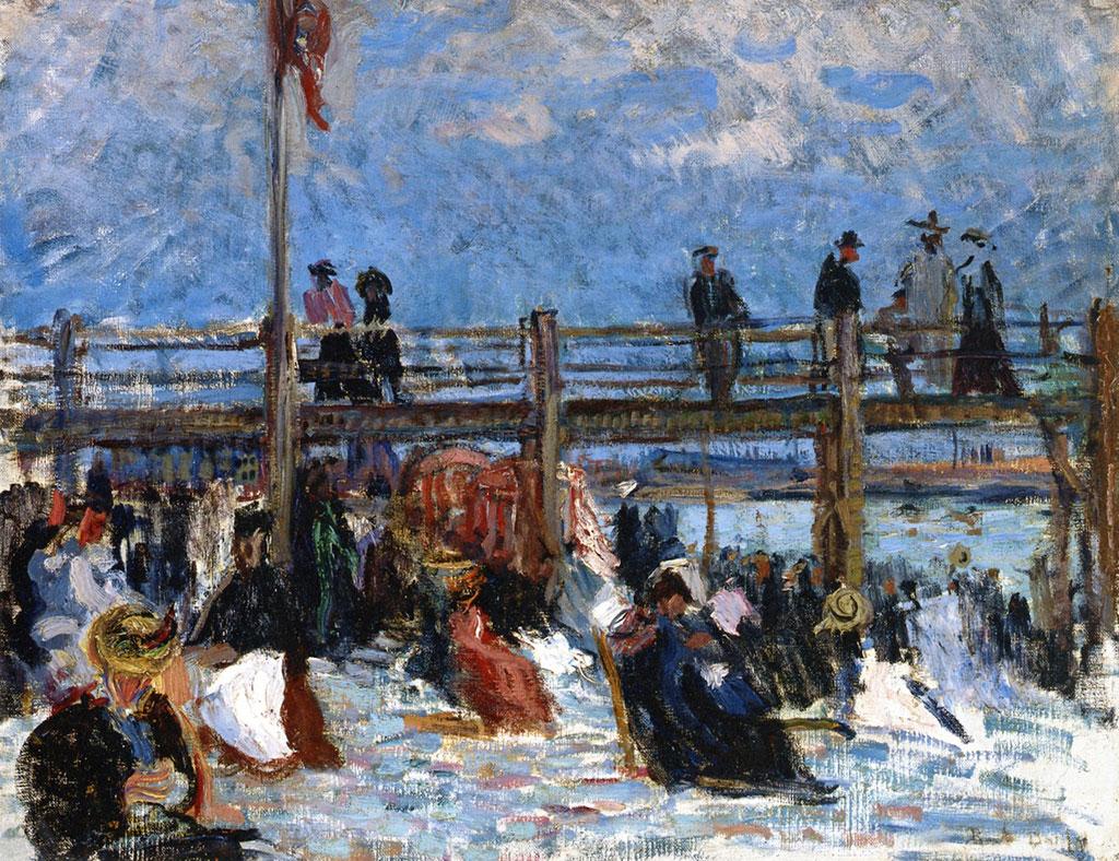 1901 Raoul Dufy - The Beach at Sainte-Adresse