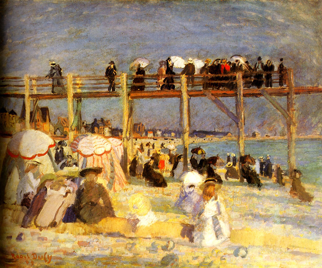 1901 Raoul Dufy - The Baths of the Marie-Christine Casino at Sainte-Adresse
