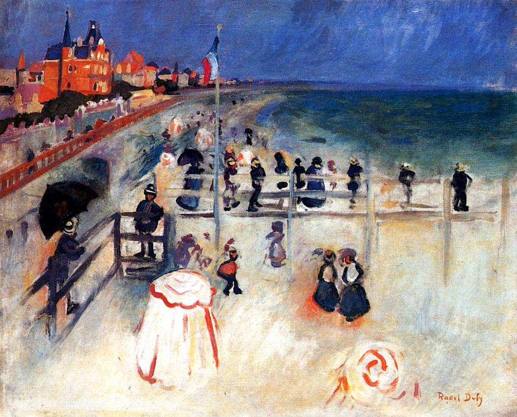1905 Raoul Dufy - The Beach at Sainte Adresse