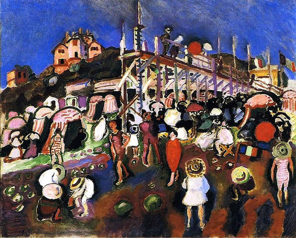 1906 Raoul Dufy - The Beach at Sainte Adresse