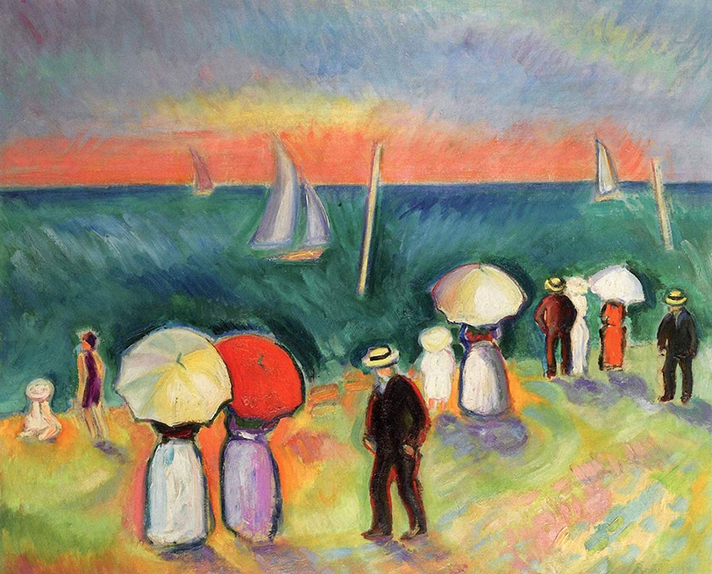 1906 Raoul Dufy - The Beach at Sainte Adresse