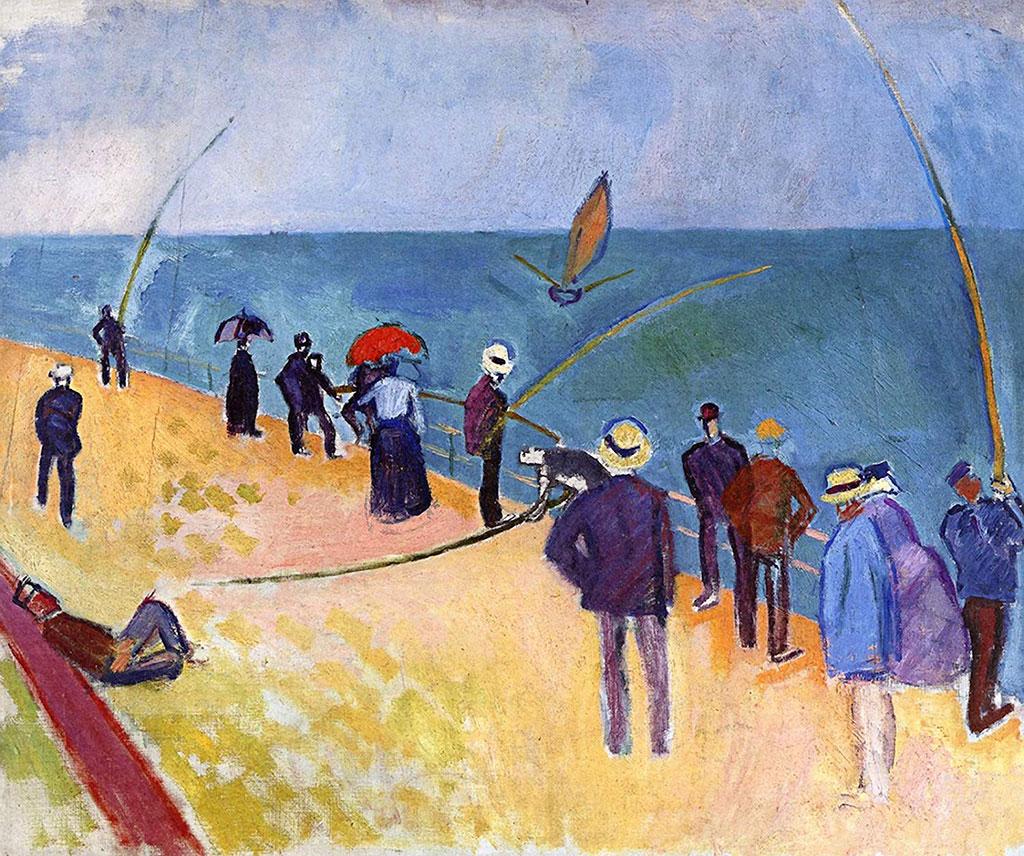 1907 Raoul Dufy - Line Fishermen at Sainte-Adresse