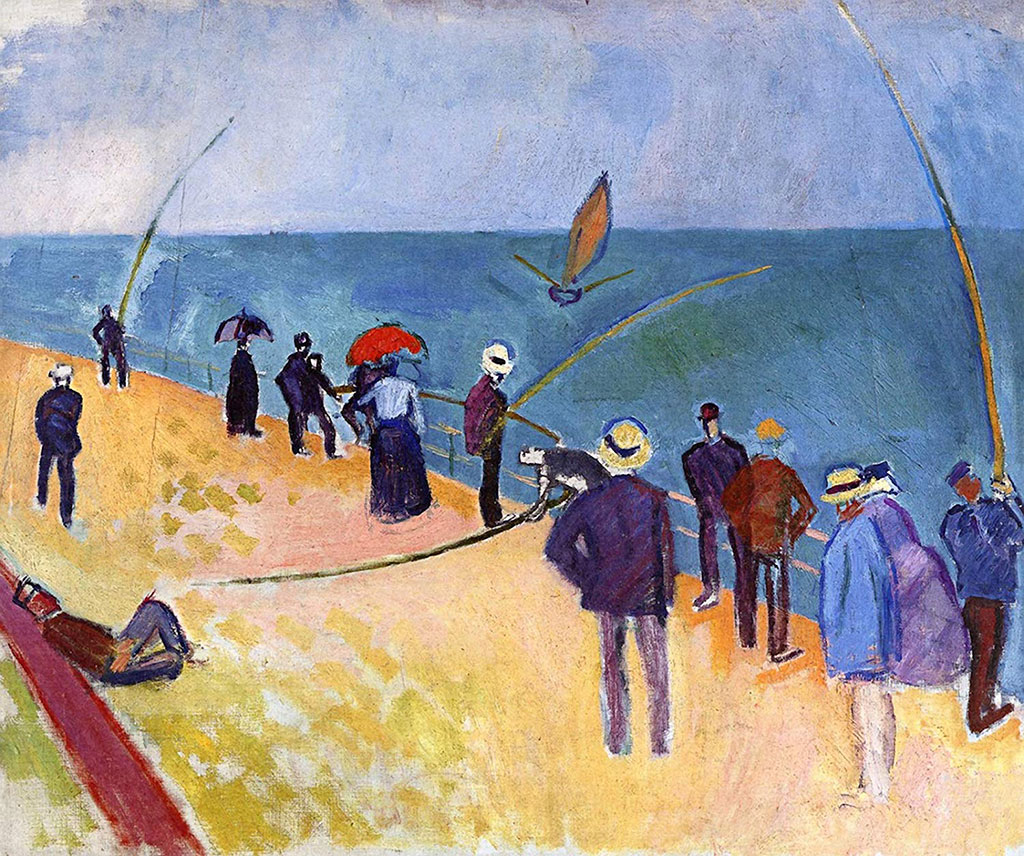 1907 Raoul Dufy - Line Fishermen at Sainte-Adresse