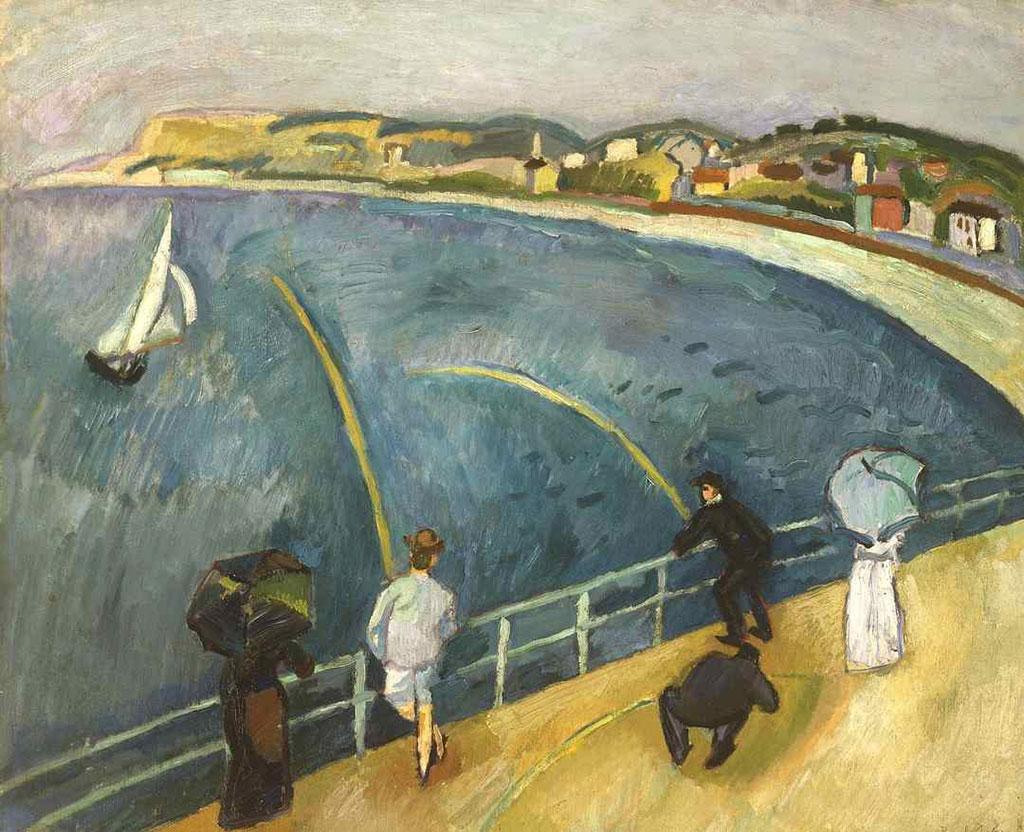 1907 Raoul Dufy - The Beach at Sainte-Adresse