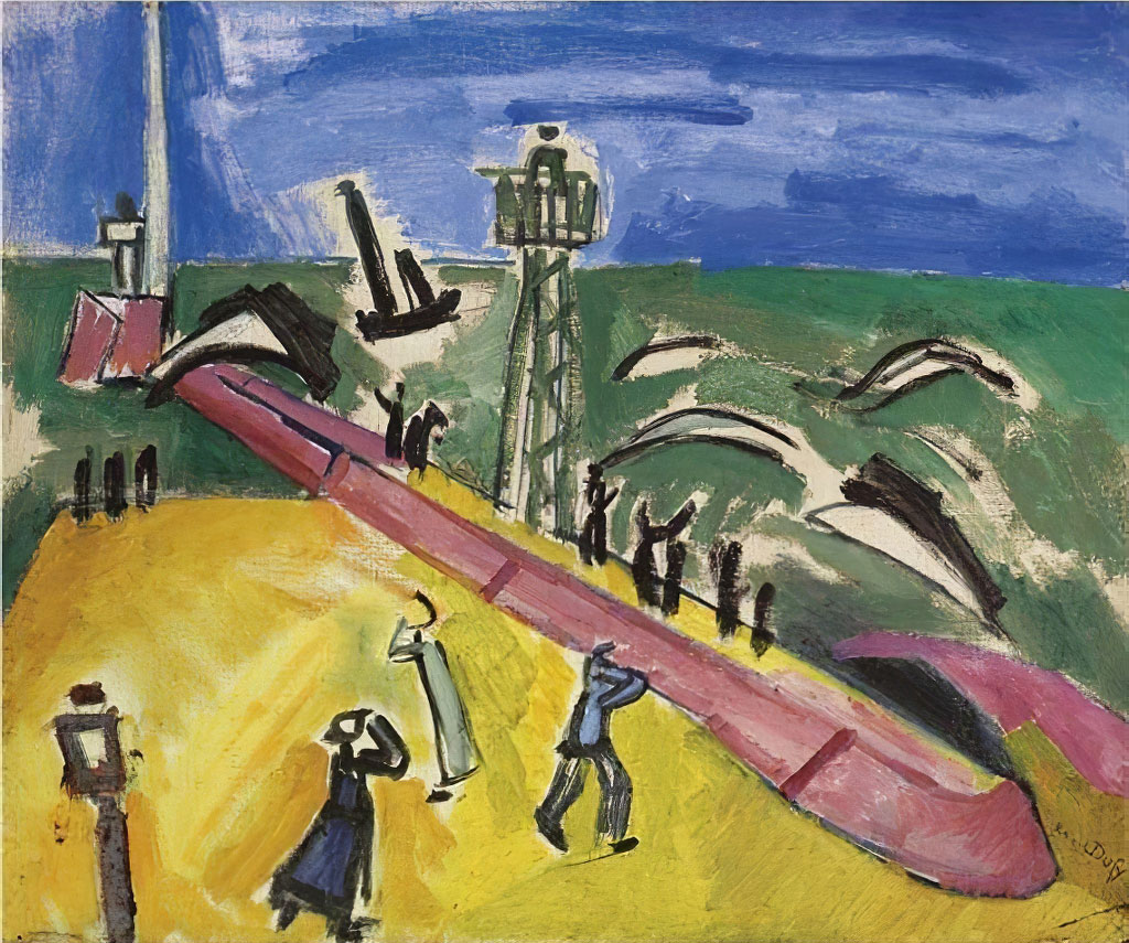 1907 Raoul Dufy - The Jetty at Sainte-Adresse