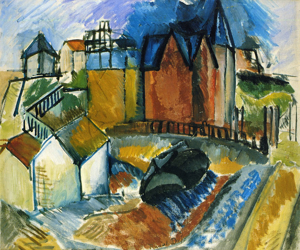 1910 Raoul Dufy - The Beach at Le Havre