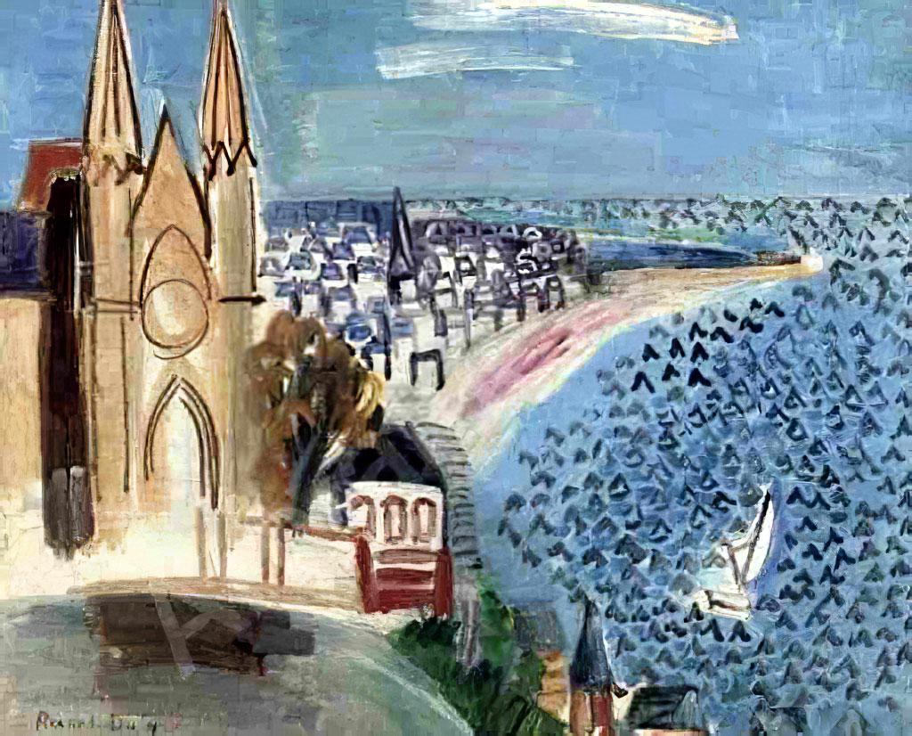 1924 Raoul Dufy - Entrance to the Port of Le Havre
