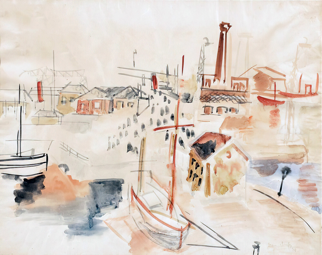 1924 Jean Dufy - Port of Le Havre