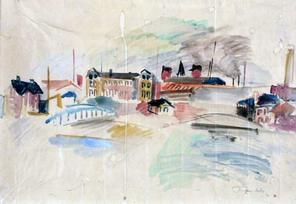 1924 Jean Dufy - The Front Port of Le Havre