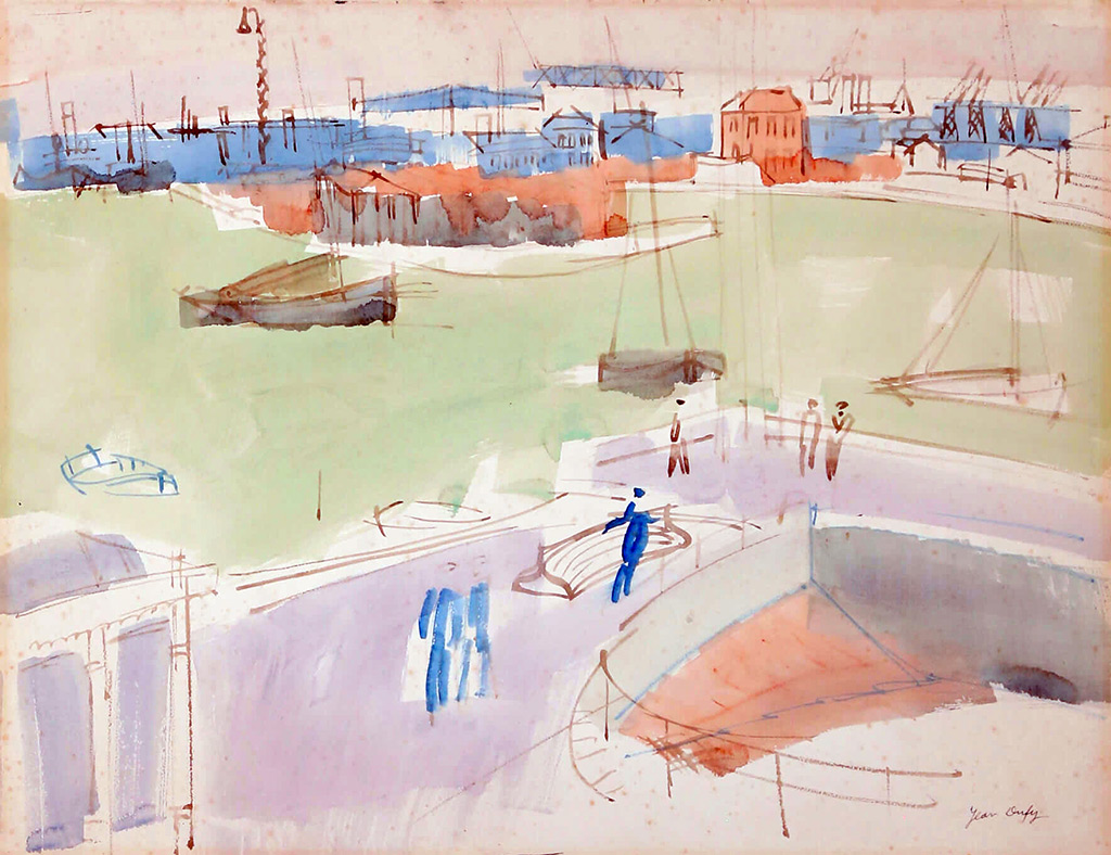 1925 Jean Dufy - View of the Port of Le Havre