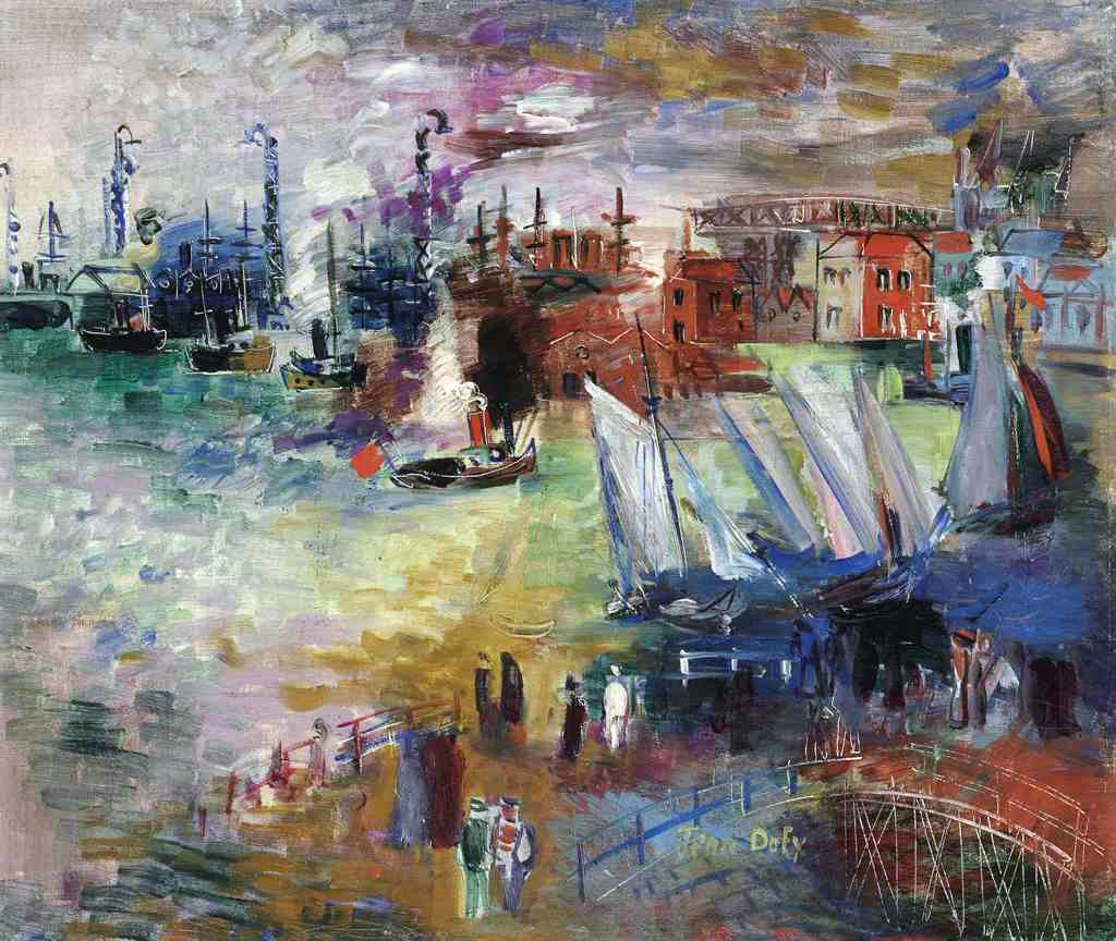 1927 Jean Dufy - Port of Le Havre