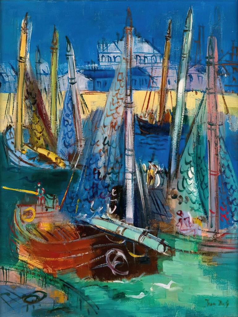 ???? Jean Dufy - Sailboats at Le Havre