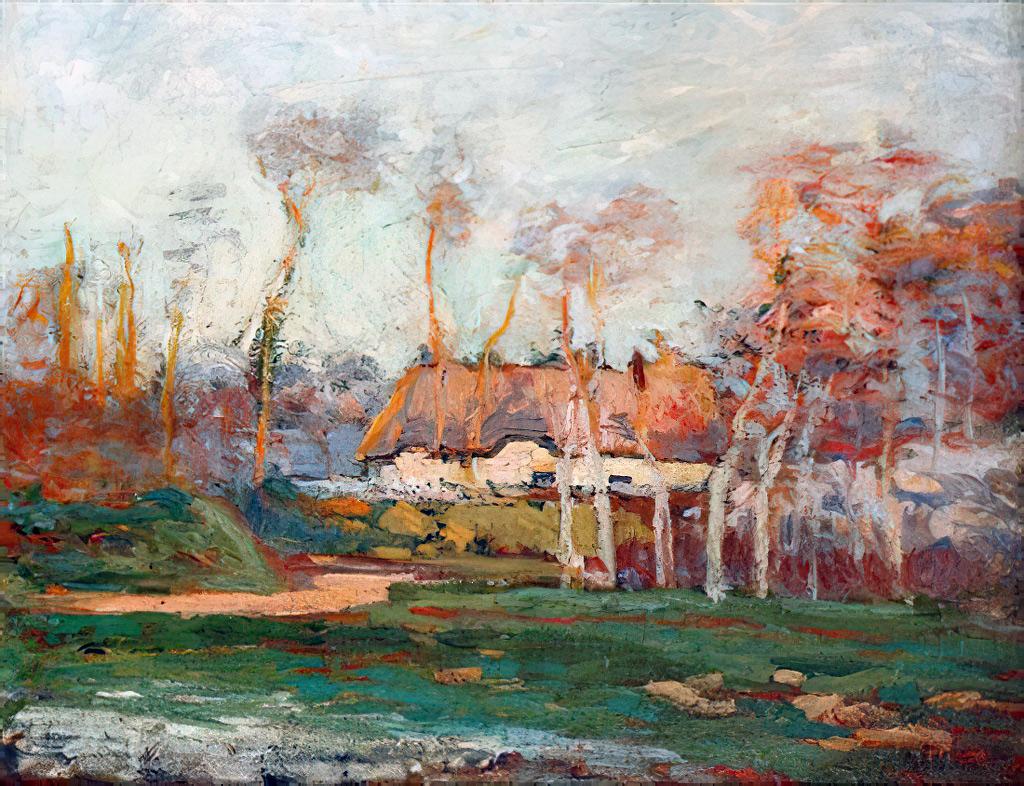 1901 - Othon Friesz - The cottage at Fontaine-la-Mallet