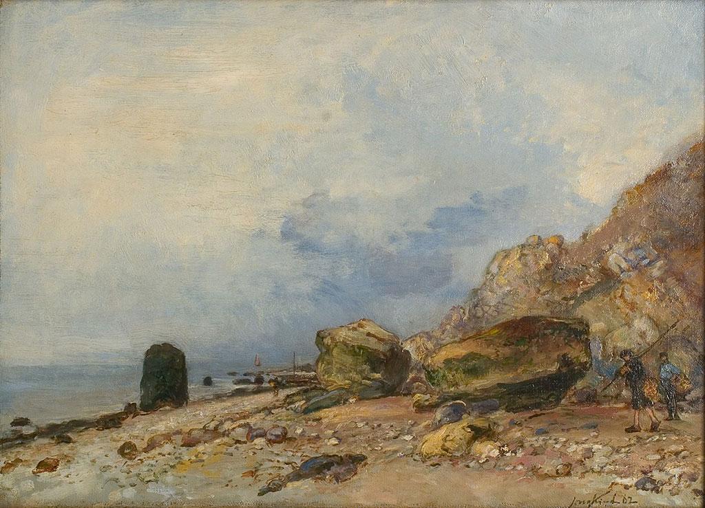 1853 Johan Jongkind - Rocky Coast near Sainte-Adresse