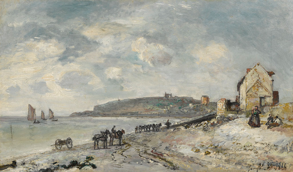 1866 Johan Jongkind - The Beach at Sainte-Adresse