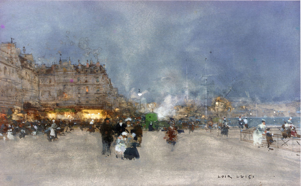 ???? Luigi Loir - Evening Promenade, Le Havre