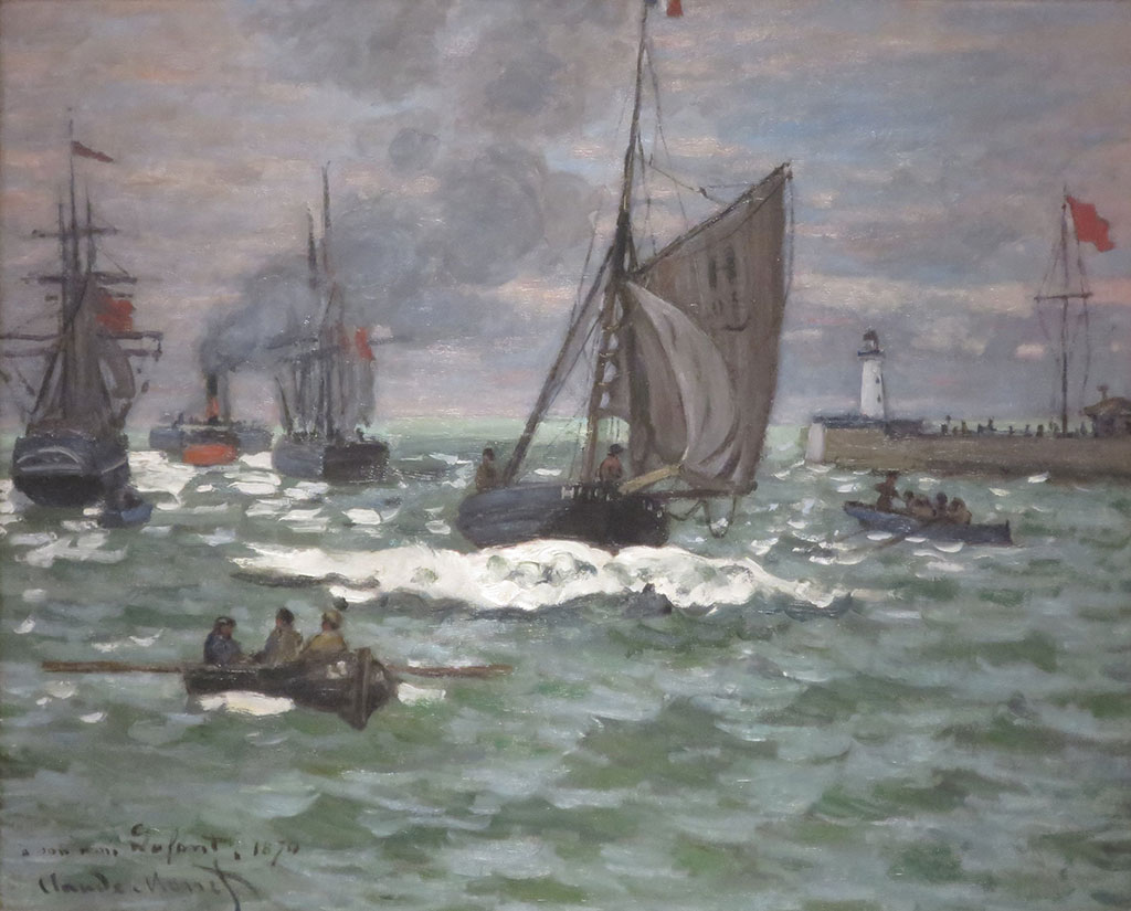 1867 Claude Monet - Entrance to the Port of Le Havre
