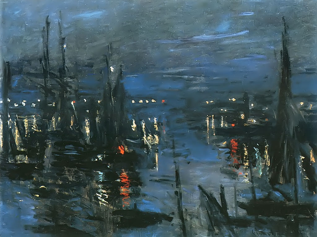 1873 Claude Monet - The Port, Night Effect