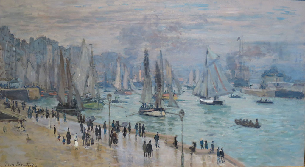 1874 Claude Monet - Fishing Boats Leaving the Harbor