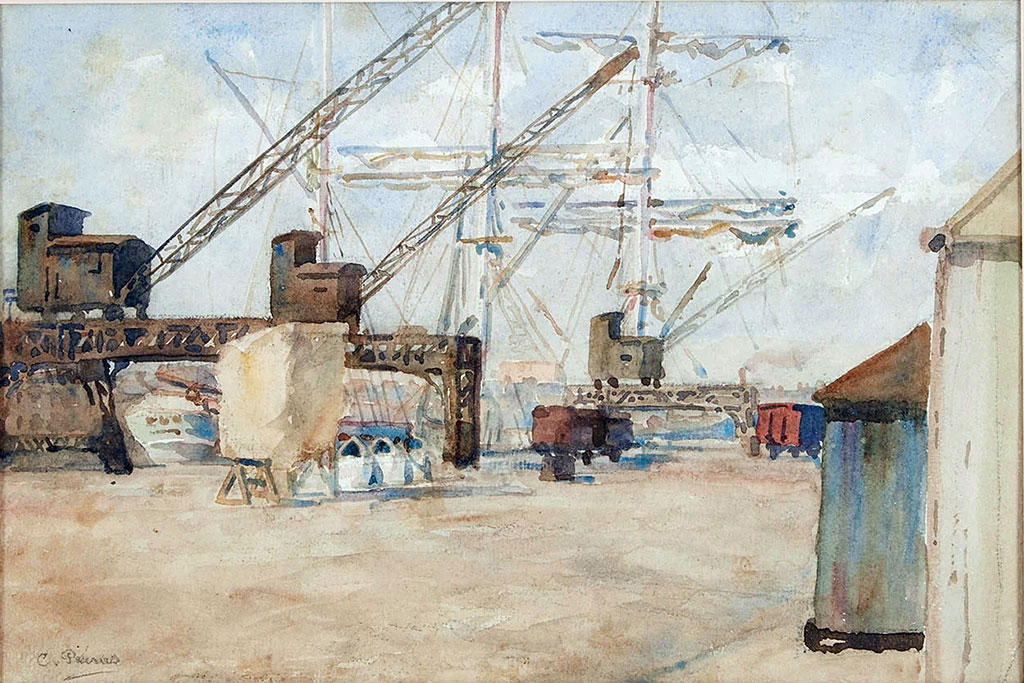 ???? Charles Pecrus - On the quays in Le Havre