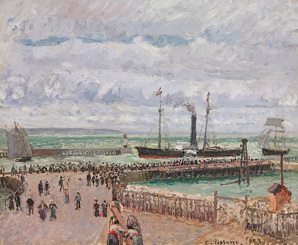 Camille Pissarro 1903 - Entrance To The Port And The West Breakwaters