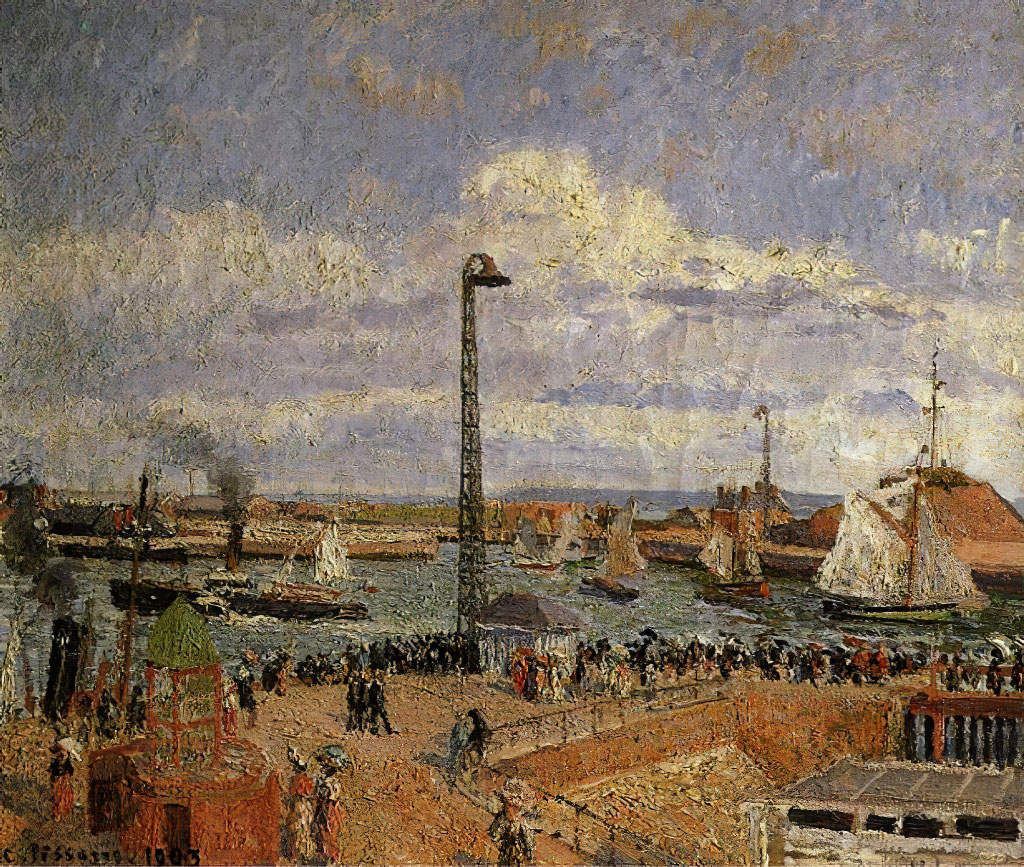 Camille Pissarro 1903 - Pilot Jetty, High Tide Afternoon Sun