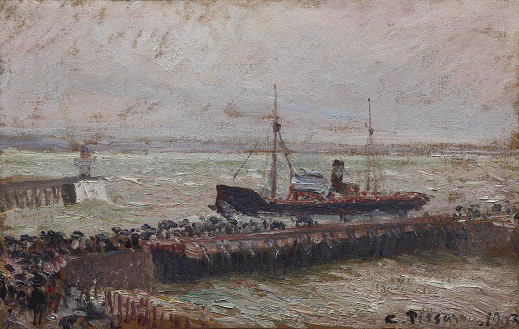 Camille Pissarro 1903 - Ship Entering the Harbor