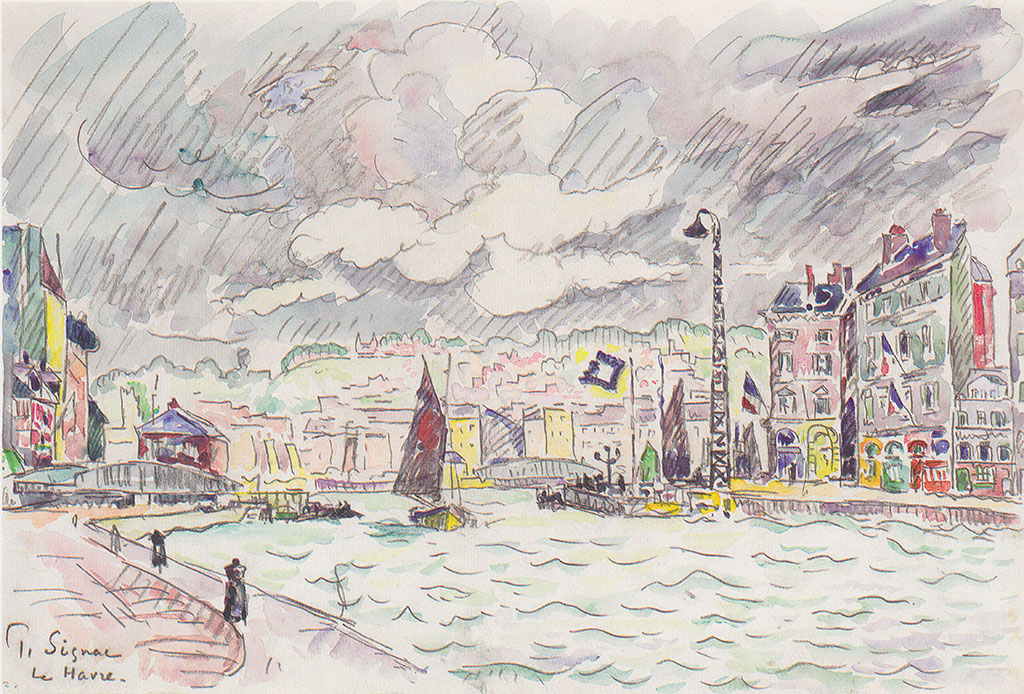 Paul Signac 1922 - Le Havre with Rain Clouds